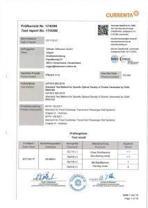 Brandschutz ASTM R 662-2015 Wiboard 3-12