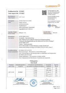 Brandschutz ISO 5659-2-2012 Wiboard 1-111
